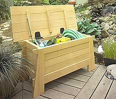 Garden Storage Bench Plan