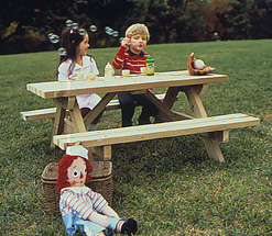 Kid's Picnic Table Plan