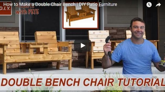 Double-Chair Bench Plan